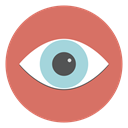 human eye, view, search, Eye IndianRed icon
