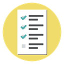 document, test, report, Form, Checklist, exam Khaki icon