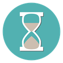 Clock, timer, Hourglass, Wait, deadline CadetBlue icon