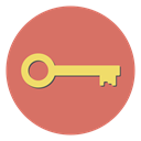 Key, Lock, Unlock, Access, Safe, safety IndianRed icon