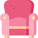 Seat, buildings, furniture, relax, Chairs PaleVioletRed icon
