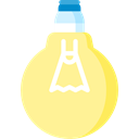 Electric, technology, invention, Light Bulbs, Idea, electricity, light Khaki icon