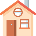 house, windows, Building, Door, buildings, real estate Bisque icon