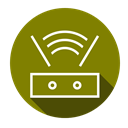 internet, network, Wifi, router Olive icon