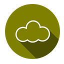 download, Cloud, Sass, computing Olive icon