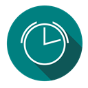 Alert, Alarm, event, notification, ring, shcedule Teal icon