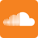 media, internet, sound, Cloud, Audio, social media, song DarkOrange icon