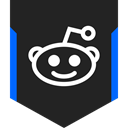 Social, media, Logo, Reddit Black icon