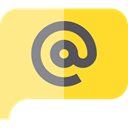 Email, Chat, marketing, speech bubble Khaki icon