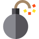 Detonation, Terrorism, security, Bomb, explosive, weapons Gray icon