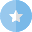 rate, shapes, signs, star, Favorite, Favourite, interface SkyBlue icon