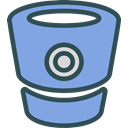 Bitbucket, network, Logo, Social, Brand CornflowerBlue icon