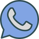 whatsup, Logo, Social, Brand, network CornflowerBlue icon