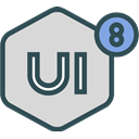 network, Logo, Social, Brand, ui8 Gainsboro icon