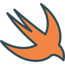 network, Logo, Social, Brand, swift Coral icon