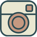 network, Logo, Social, Brand, Instagram AntiqueWhite icon