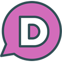 Disqus, Logo, Social, Brand, network Orchid icon