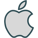 network, Apple, Logo, Social, Brand Gainsboro icon