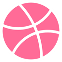 network, Logo, Social, dribbble, Brand HotPink icon