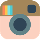 network, Logo, Social, Brand, Instagram PeachPuff icon