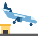 landing, Arrivals, Arrival, Plane, transport, flight, Aeroplane, Airport, transportation, travel Icon