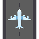 Airport, transportation, travel, Plane, transport, flight, Aeroplane, landing, Arrivals, Arrival DimGray icon