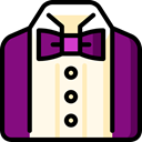 fashion, tuxedo, vip, Suit, men, wedding, style Purple icon