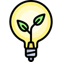 Ecology And Environment, illumination, technology, ecology, invention, Light bulb, Idea, electricity Black icon