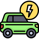 plug, Car, transportation, transport, Automobile, electric car, Electric Vehicle, Ecology And Environment Black icon