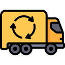 Trash, Garbage, Automobile, Ecology And Environment, Garbage Truck, transportation, transport, vehicle, recycling SandyBrown icon