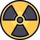 Energy, Alert, power, nuclear, industry, Radioactive, radiation, signs, Signaling SandyBrown icon