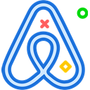 network, Logo, Social, Brand, Airbnb RoyalBlue icon