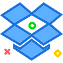 network, dropbox, Logo, Social, Brand CornflowerBlue icon