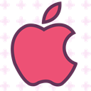 network, Apple, Logo, Social, Brand IndianRed icon