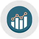 Development, graph, performance, growth, optimization, productivity Gainsboro icon