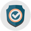 Check, Business, Firewall, Protection, shield, tick Gainsboro icon