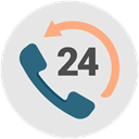 help, support, telephone, hour, Advice, productivity Gainsboro icon
