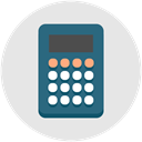 calculator, Efficiency, banking, productivity, Finance, Currency Gainsboro icon