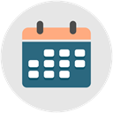 Calendar, strategy, Schedule, plan, rota Gainsboro icon