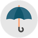 Umbrella, Business, Protection, Rain, insurance Gainsboro icon