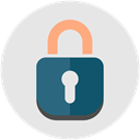 encryption, password, Lock, Firewall, Protection, secure, security Gainsboro icon