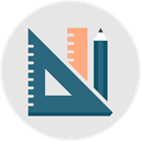 Edit, pencil, create, ruler, Art, illustration, productivity Gainsboro icon