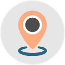 Find, navigate, navigation, location, pin Gainsboro icon