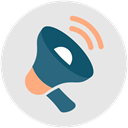 announcement, megaphone, marketing, Sales, bullhorn Gainsboro icon