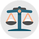 law, judge, Court, judgement, trial, Business Gainsboro icon