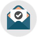 Email, read, Check, Business, notification Gainsboro icon
