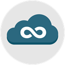 infinity, seo, internet, network, Cloud, web Gainsboro icon