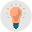 Genius, Bright, productivity, Idea, light, bulb, brainstorming Gainsboro icon