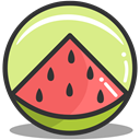 watermelon, summer, nutrition Khaki icon