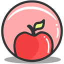 nutrition, Apple, health, fitness LightPink icon